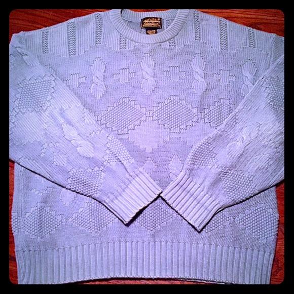 Eddie Bauer Other - Eddie Bauer XL Crew Neck Knit Sweater Men Blue